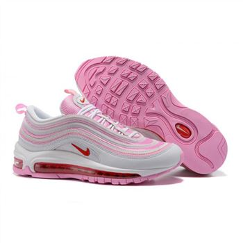 Nike Air Max 97 White Pink Shoes For Women