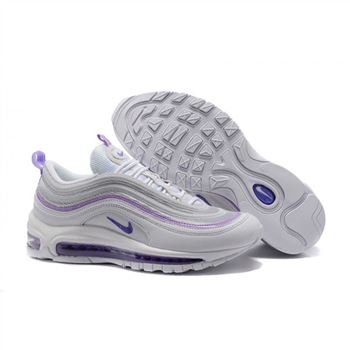Nike Air Max 97 White Purple Shoes For Women