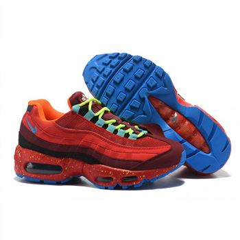 Womens Nike Air Max 95 Essential Red Claret Blue Shoes