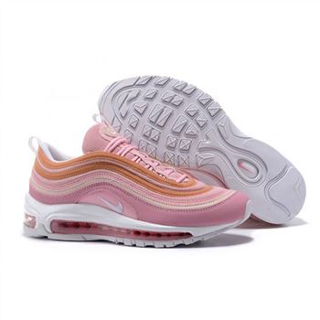 Womens Nike Air Max 97 Pink Orange Shoes