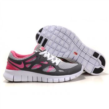 Nike Free Run 2 Womens Shoes Gray White Pink