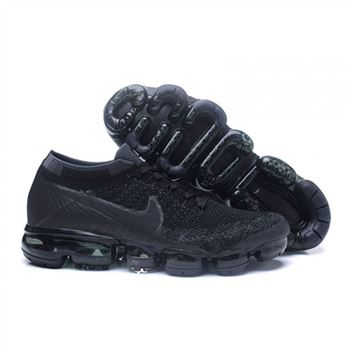Womens Nike Air VaporMax Flyknit All Black Shoes