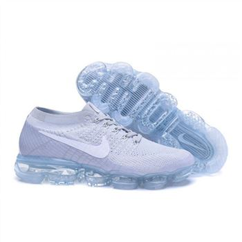 Womens Nike Air VaporMax Flyknit Grey White Shoes