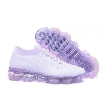 Womens Nike Air VaporMax Flyknit White Purple Shoes