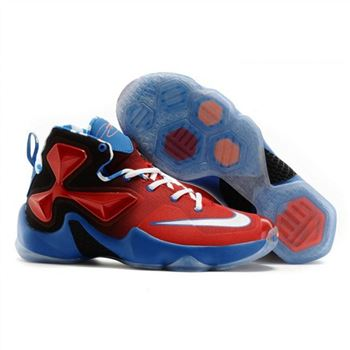 Womens Nike Lebron James 13 Red Black Blue