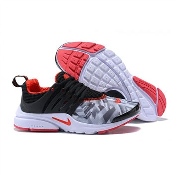 Nike Air Presto Women Black Gray Red Shoes