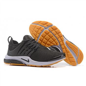 Nike Air Presto Women Black White Yellow Shoes