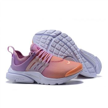 Nike Air Presto Women Orange Purple White Shoes