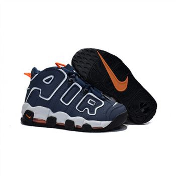 Womens Nike Air More Uptempo Navy Black Orange Sheos