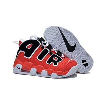 Womens Nike Air More Uptempo Red Black White Shoes