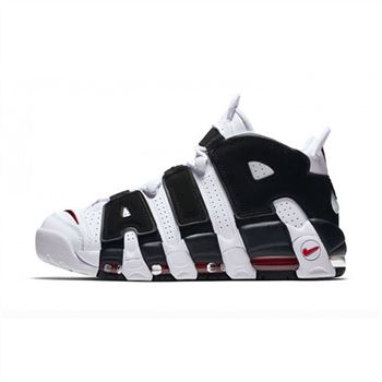 Womens Nike Air More Uptempo White Balck Red Shoes