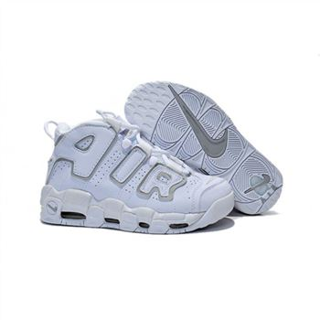 Womens Nike Air More Uptempo White Grey Shoes