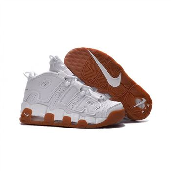 Womens Nike Air More Uptempo White Suntan Shoes