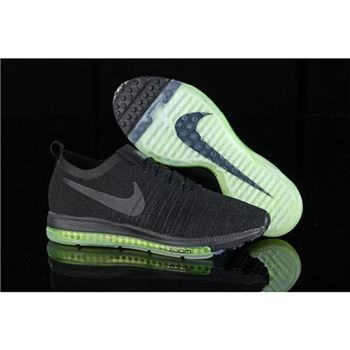 Women Nike Zoom All Out Flyknit Black Fluorescent Shoes
