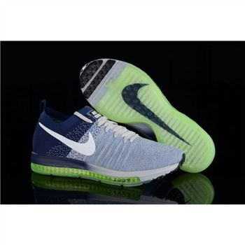 Women Nike Zoom All Out Flyknit Blue Navy Shoes