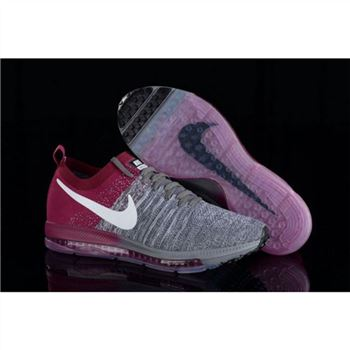 Women Nike Zoom All Out Flyknit Gray Fuchsia Shoes