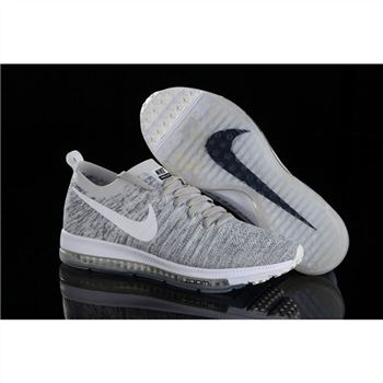 Women Nike Zoom All Out Flyknit Light Gray Shoes
