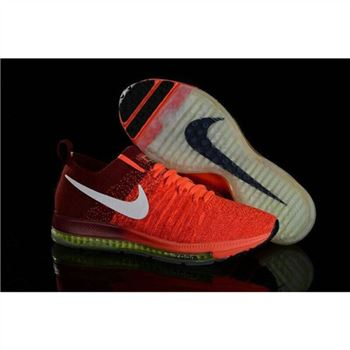 Women Nike Zoom All Out Flyknit Orange Claret Shoes