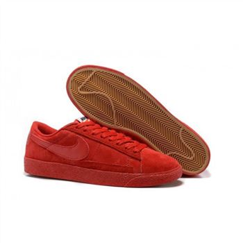 Womens Nike Blazer Low Red Shoes