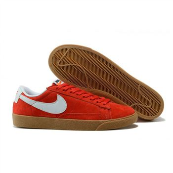 Womens Nike Blazer Low Red White Shoes