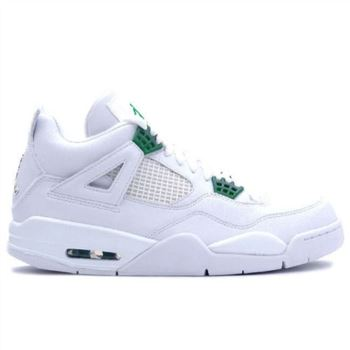 308497-101 Air Jordan 4 Retro Womens White Chrome Classic Green A24011