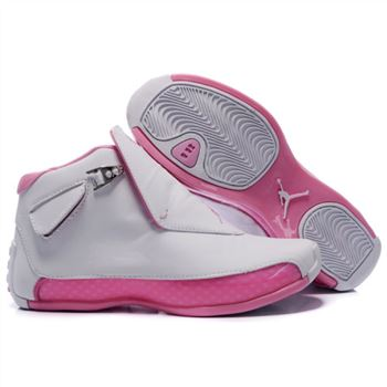 313038-162 Air Jordan 18 Original OG White Women Pink A24015