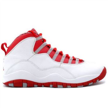 310806-161 Air Jordan 10 retro gs wht red gry A24013