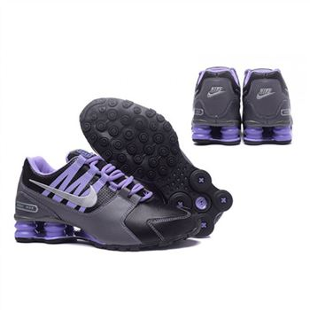 Nike Shox Avenue 803 Womens Shoes Black Grey Purple