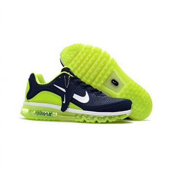 Mens Nike Air Max 2017.5 Shoes Navy Fluorescent