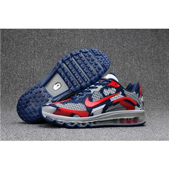 Mens Nike Air Max 2017.8 Camouflage Navy Red Shoes