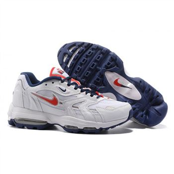 official photos 4ed1c 8f78c Nike Air Max 96 White Red Navy Shoes For Men
