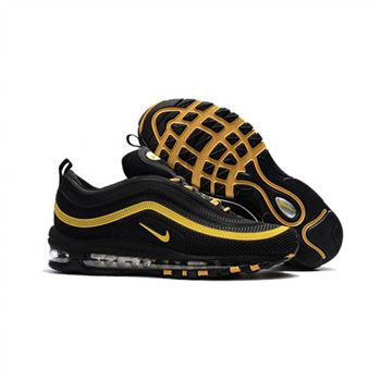 Nike Air Max 97 Black Gold Shoes For Men