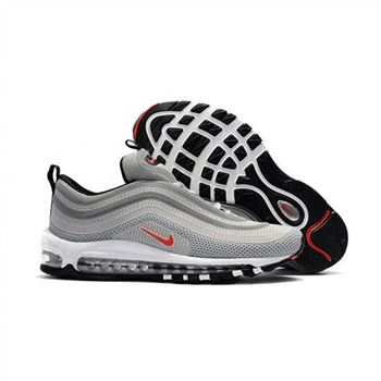 Nike Air Max 97 Gray Red Black Shoes For Men