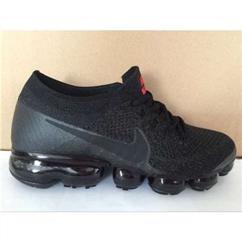 Mens Nike Air VaporMax Shoes Black With Red