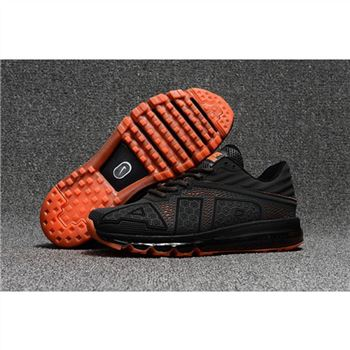 Nike Air Max Flair Mens Charcoal Gray Orange Shoes