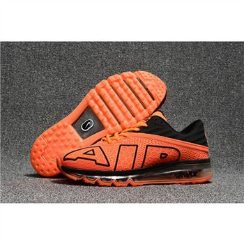Nike Air Max Flair Mens Orange Black Shoes