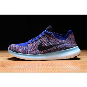 Mens Nike Free RN Shoes Blue White