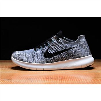 Mens Nike Free RN Shoes Gray Black
