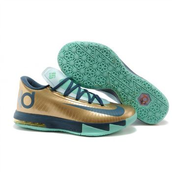 Mens Nike Zoom KD 6 Gold Green