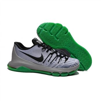 Mens Nike KD 8 Basketball Shoes Grey Black Green