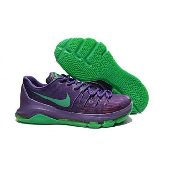 Mens Nike KD 8 Basketball Shoes Purple Green