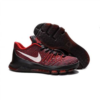 Mens Nike KD 8 EP Basketball Shoes Black Univeristy Red White