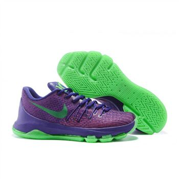 Mens Nike KD 8 EP Basketball Shoes Purple Green