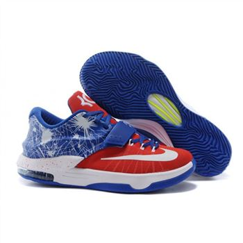 Mens Nike Zoom KD 7 Blue Red White