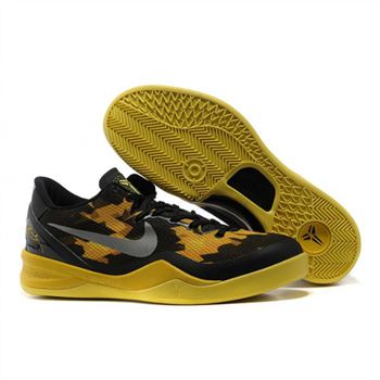 Mens Nike Kobe 8 Black Yellow